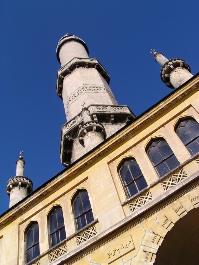 Minaret in the park. Valtice in Czech Republic stock photo