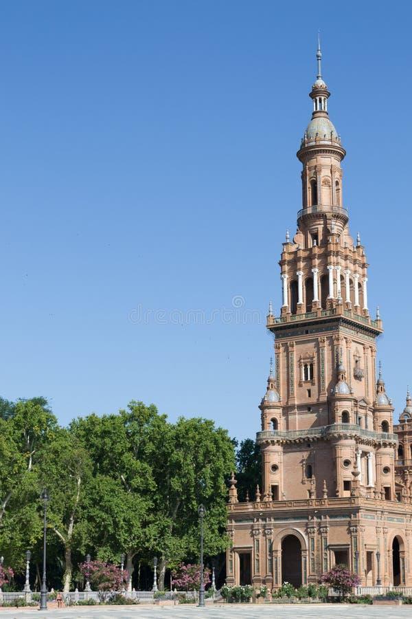 Minaret przy Hiszpania kwadratem fotografia royalty free