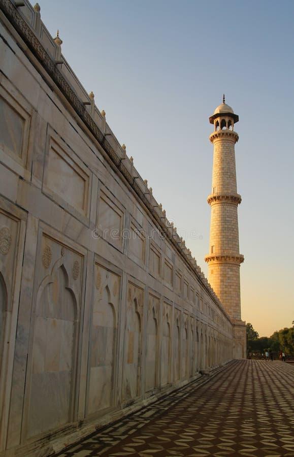 Minaret przy Taj Mahal fotografia royalty free