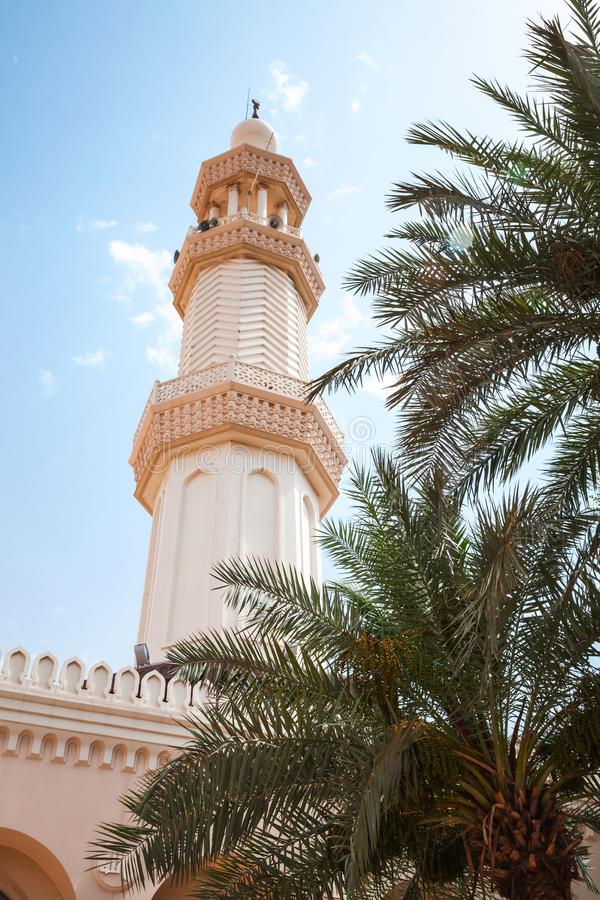 Minaret of Sharif Hussein Bin Ali in Aqaba royalty free stock photography