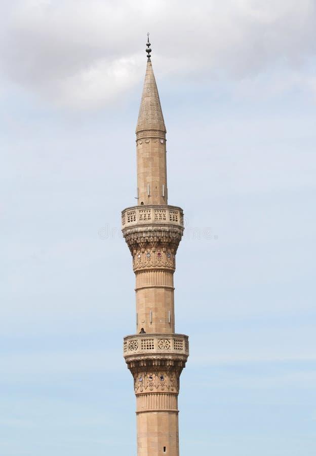 Minaret Stary meczet obrazy royalty free