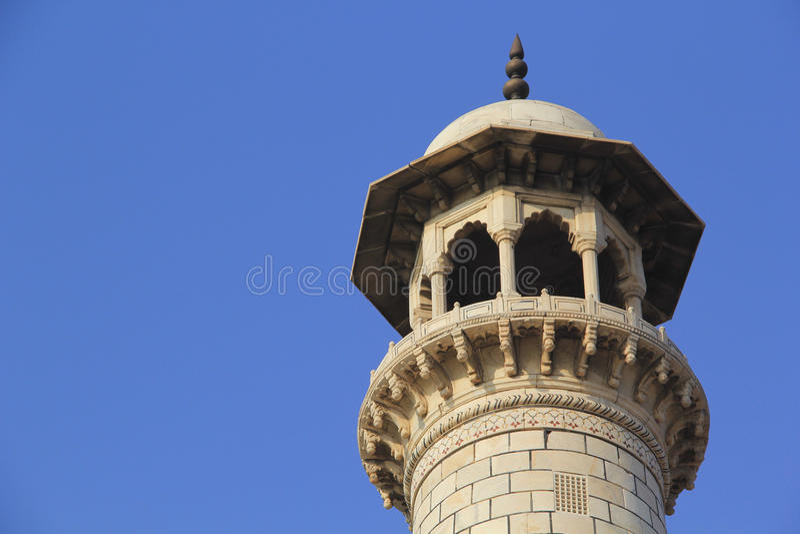 Minaret Taj Mahal photos stock