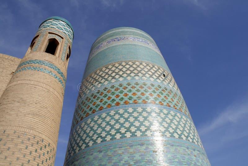 Minaret van Khiva royalty-vrije stock foto