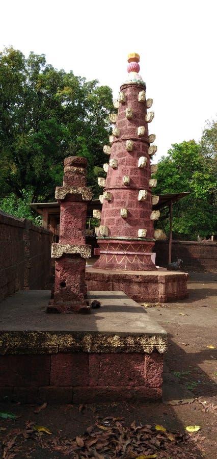 Minaret w Indiańskiej świątyni zdjęcia stock