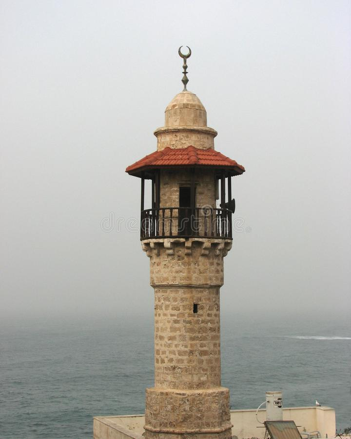 Minaret w Starym Jaffa, Tel Aviv, Izrael fotografia royalty free