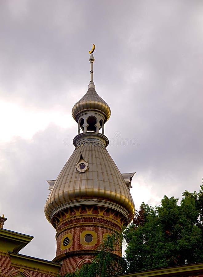 Minarete à l'université de Tampa dans HDR images stock