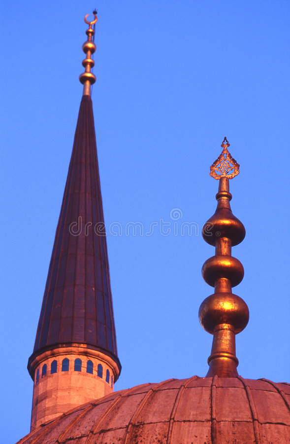 Minarete da mesquita azul, Istambul imagem de stock