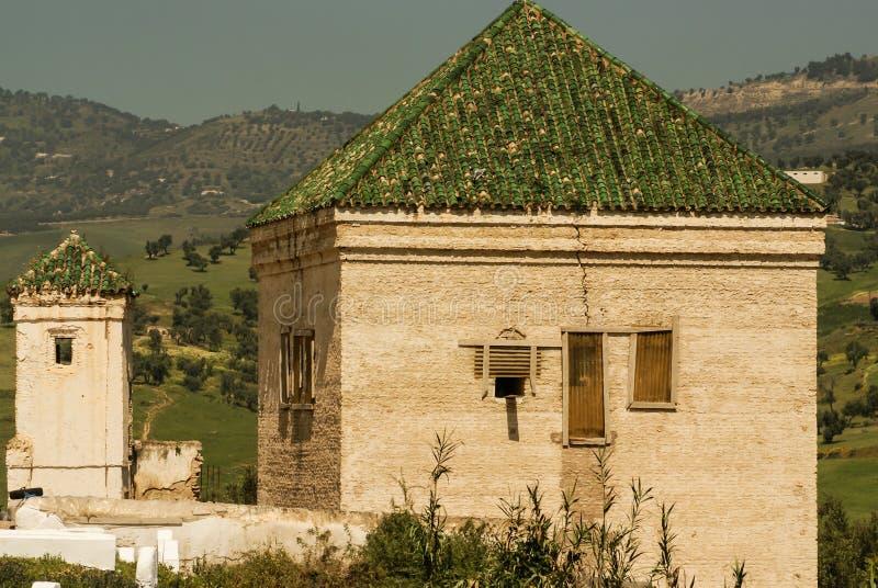 Minarete da mesquita de Kairaouine no fez, Marrocos fotos de stock