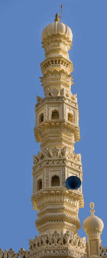 Minarete da mesquita em Tipu Sultan Mausoleum, Mysore, Índia imagem de stock