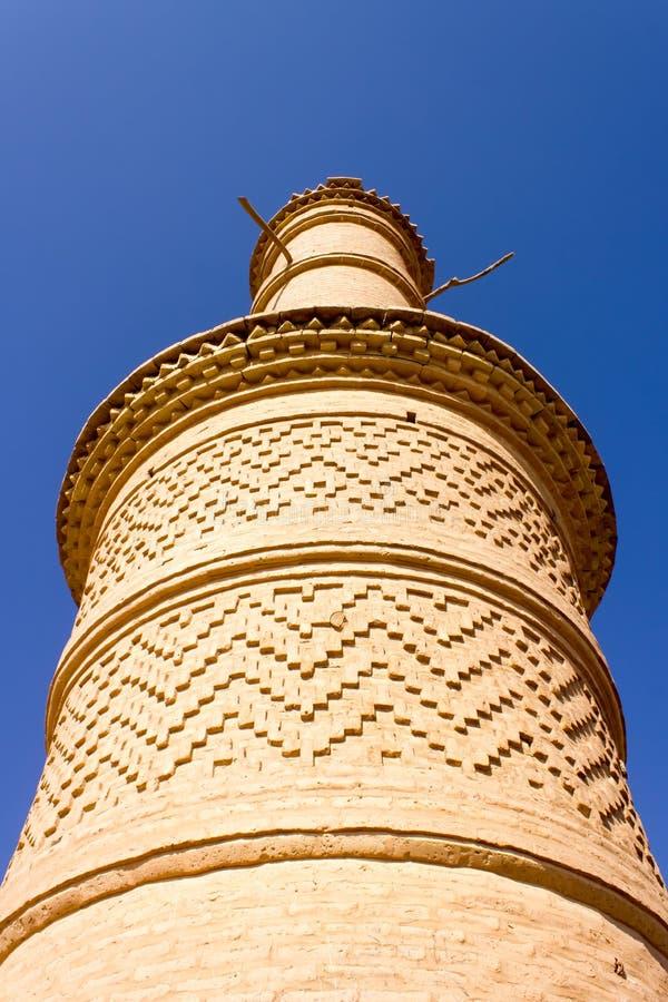 Minarete da vila de Kharanagh, Irã fotos de stock