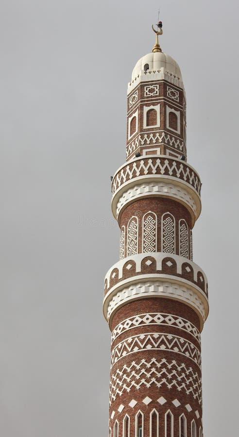 Minarete de Al Saleh Mosque fotos de stock royalty free