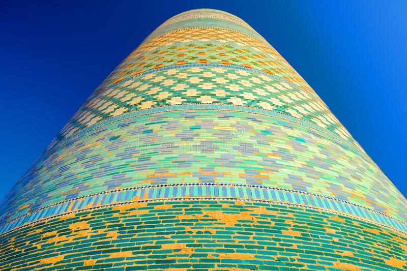 Minarete de Kalta en Khiva foto de archivo libre de regalías