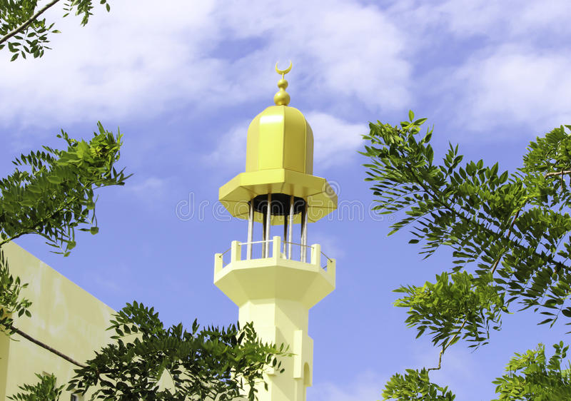 Minarete de Moosa do al-Azeez de Masjid foto de stock