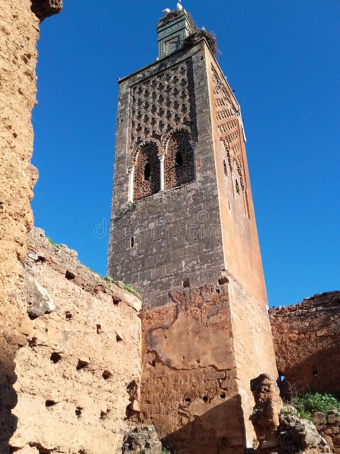 minarete de rabat fotografia de stock