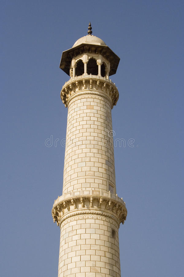 Minarete de Taj Mahal fotos de stock