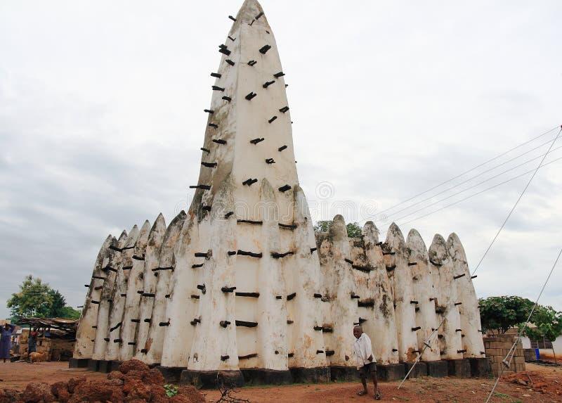 Minarete de uma mesquita histórica da argila em África fotografia de stock royalty free