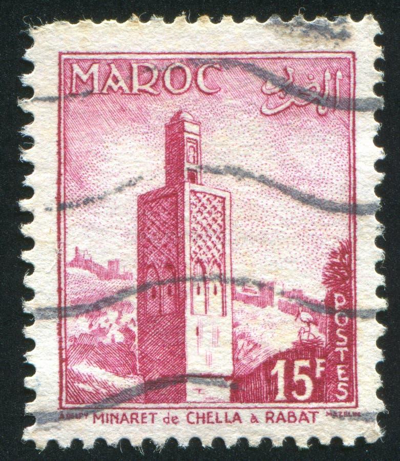 Minarete em Rabat imagens de stock