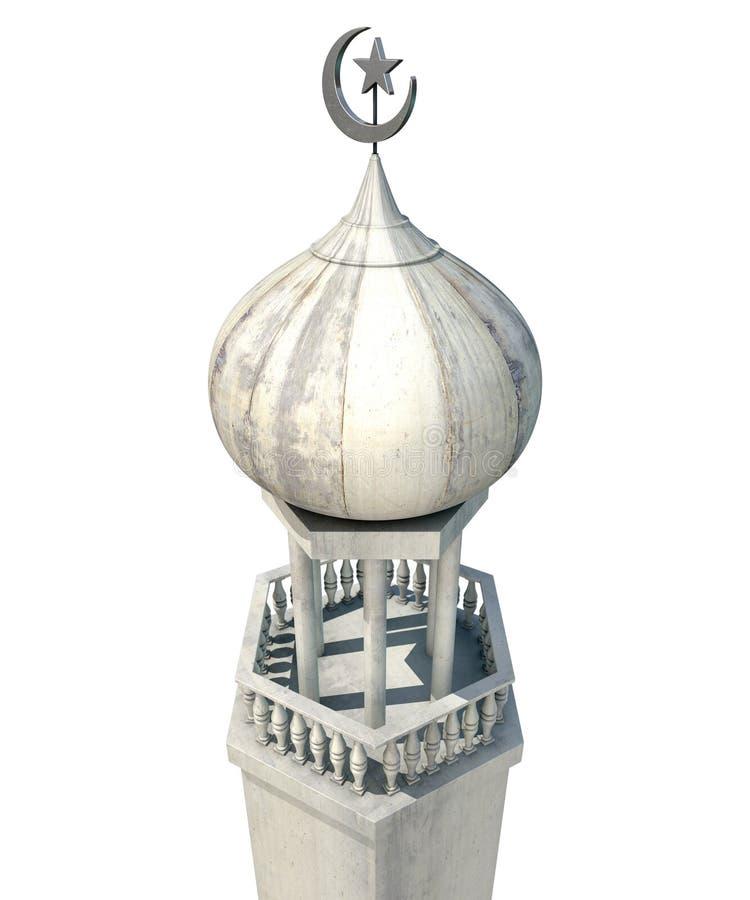 Minarete islâmico ilustração stock