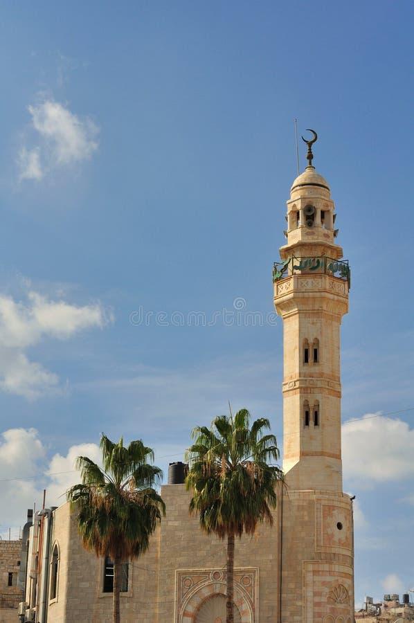 Minaret i Bethlehem fotografering för bildbyråer