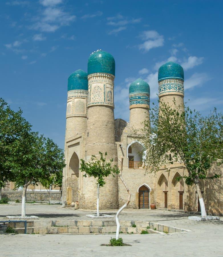 Minareto Chor-secondario, Buchara, l'Uzbekistan fotografia stock