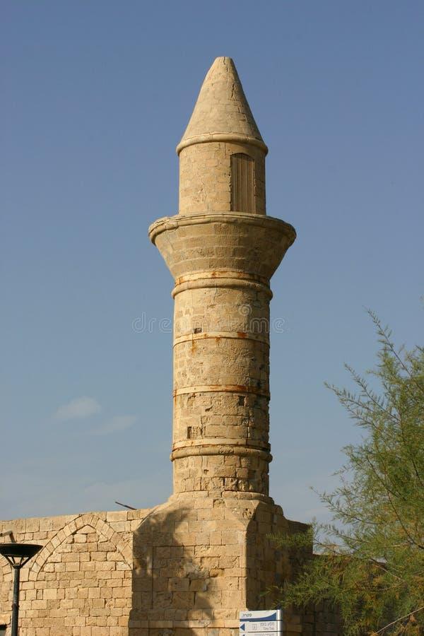 Minareto della moschea immagini stock