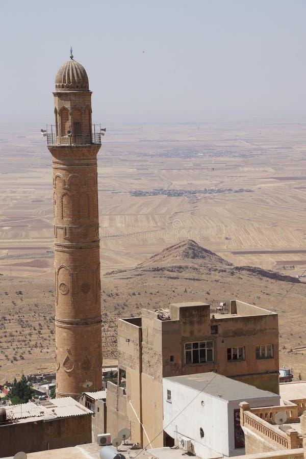 Download Minareto di Ulu Cami immagine stock. Immagine di architettura - 55354235