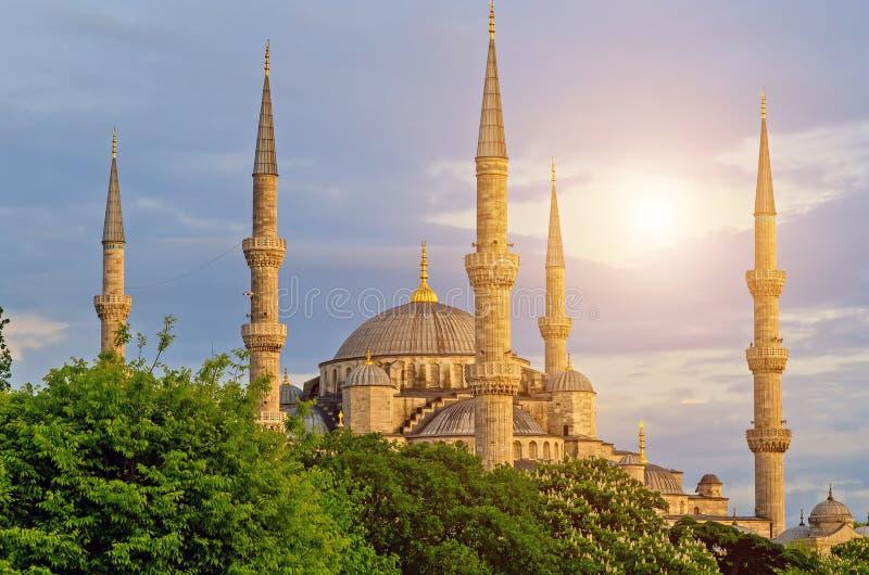Minarets de la mosquée Architecture Istanbul, Turquie d'Ottoman images stock