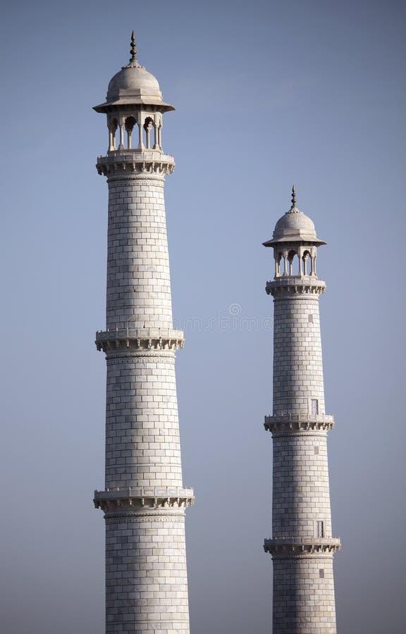 Minarets du Taj photos libres de droits