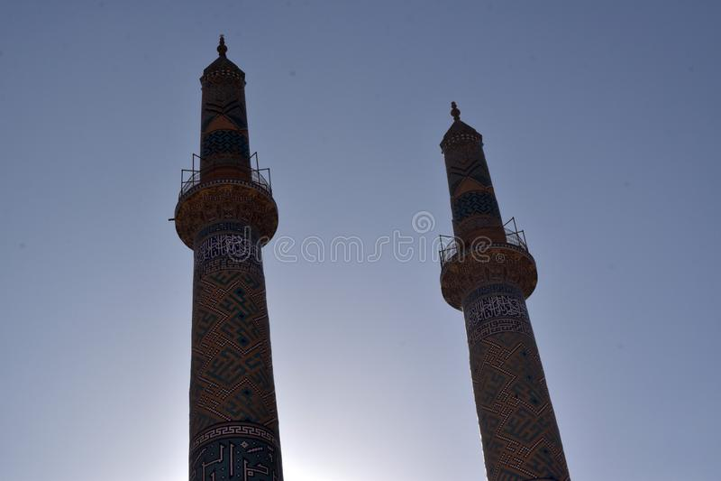 Minarets en Iran photographie stock libre de droits