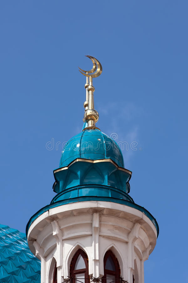 Minarets Of The Mosque In Kazan Kremlin Royalty Free Stock Photos