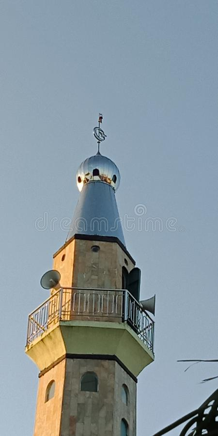 Minarets to echo the call towering so wide the radius. royalty free stock images