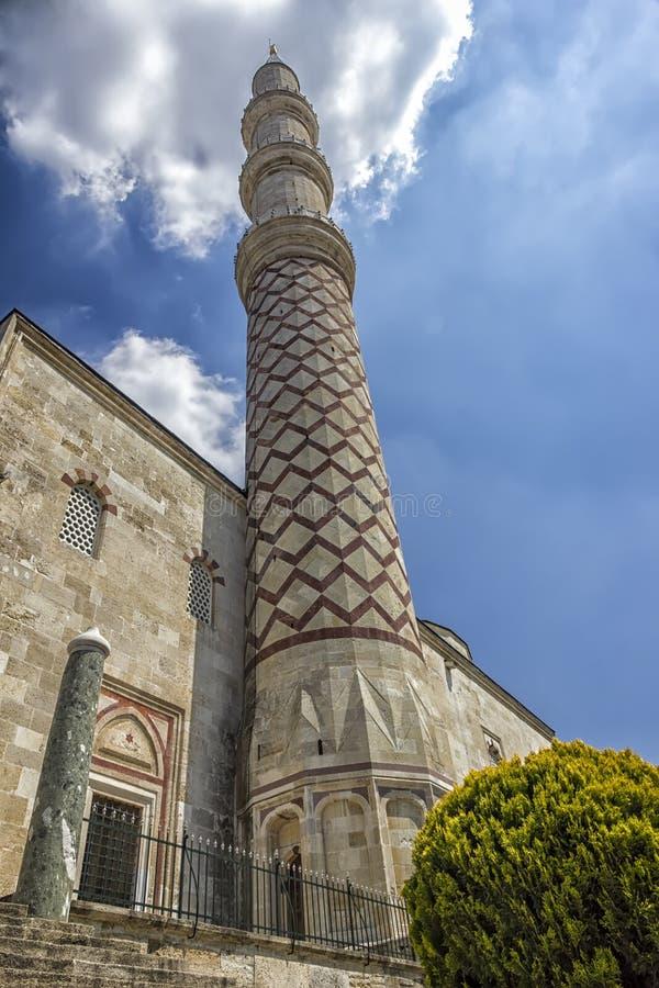 Minarett der Moschee stockfoto