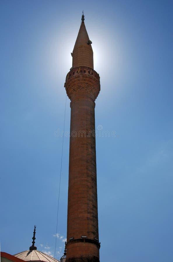 Minarett in der Moschee der Stadt von Demre stockfoto