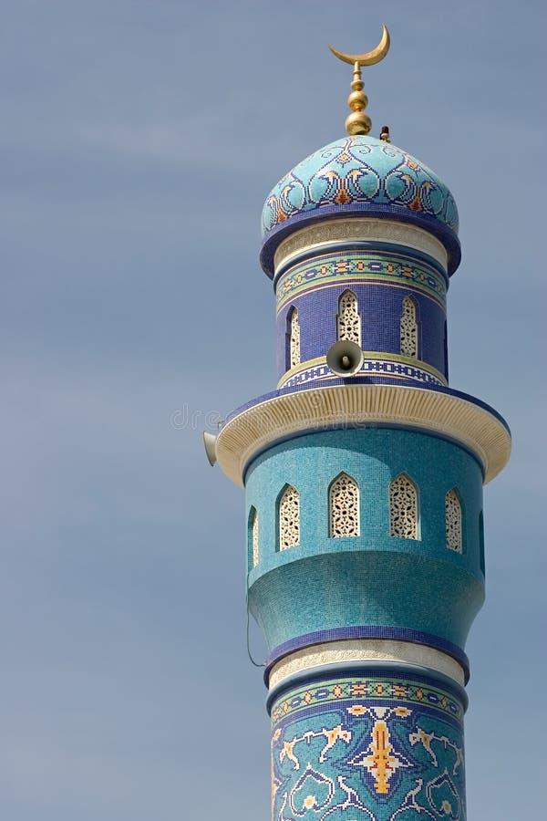 Minarett Muttrah stockfoto