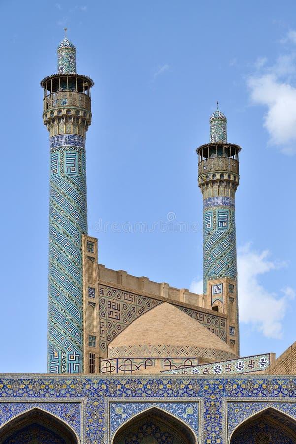 Minarety Jameh meczet Isfahan, Iran zdjęcia royalty free