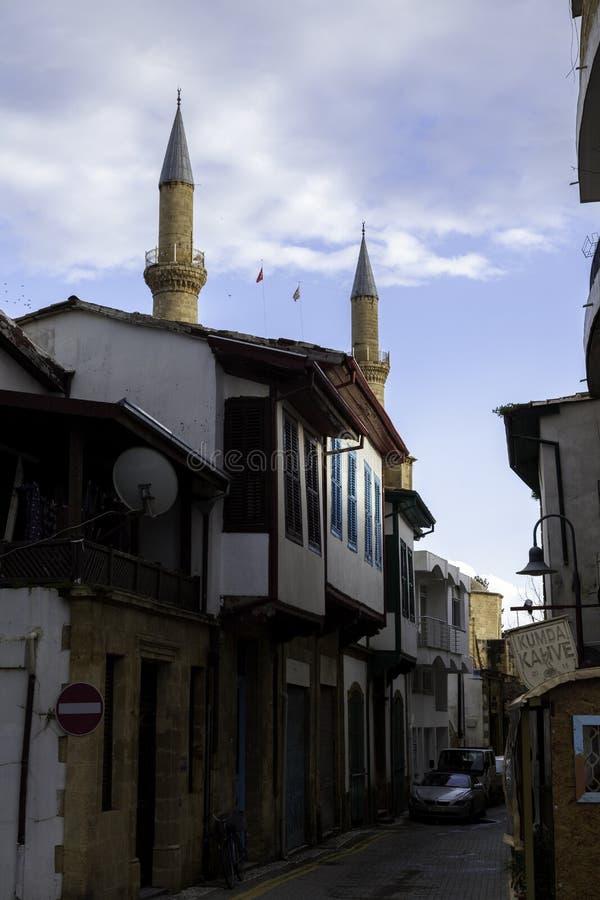 Minarety w miasteczku obraz royalty free