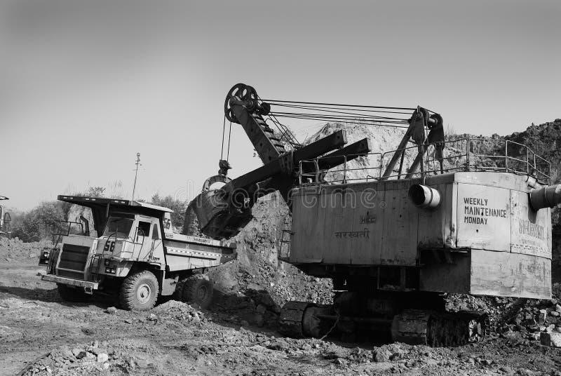 Minas de carbón en la India imagen de archivo