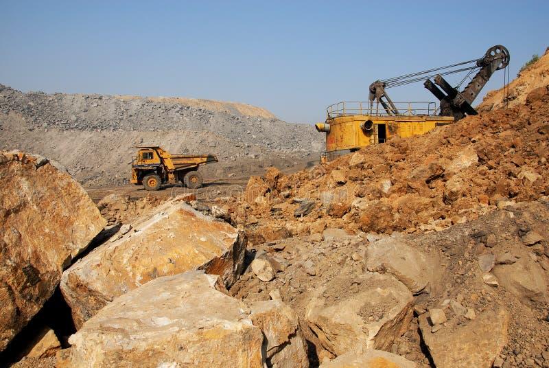 Minas de carvão em India imagem de stock royalty free