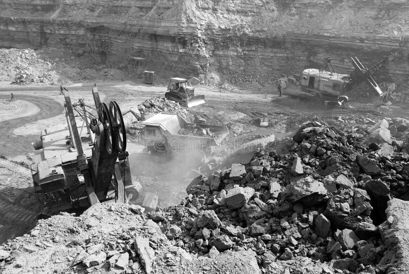 Minas de carvão em India fotografia de stock