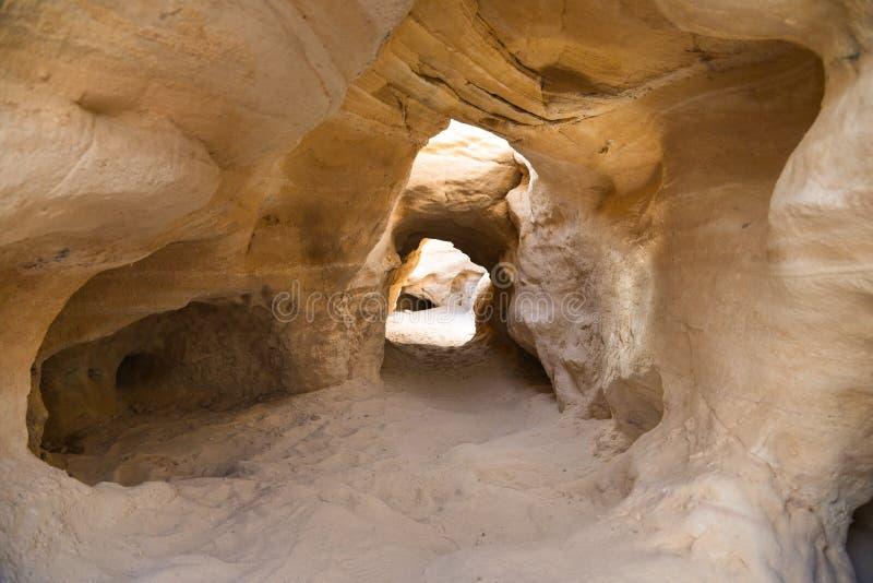 Minas de cobre Israel de Chalcolithic del valle de Timna foto de archivo libre de regalías