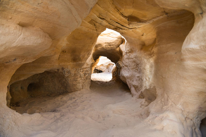Minas de cobre Israel de Chalcolithic do vale de Timna foto de stock royalty free