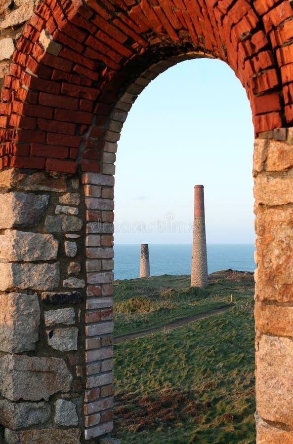 Minas de estanho Cornish fotografia de stock royalty free