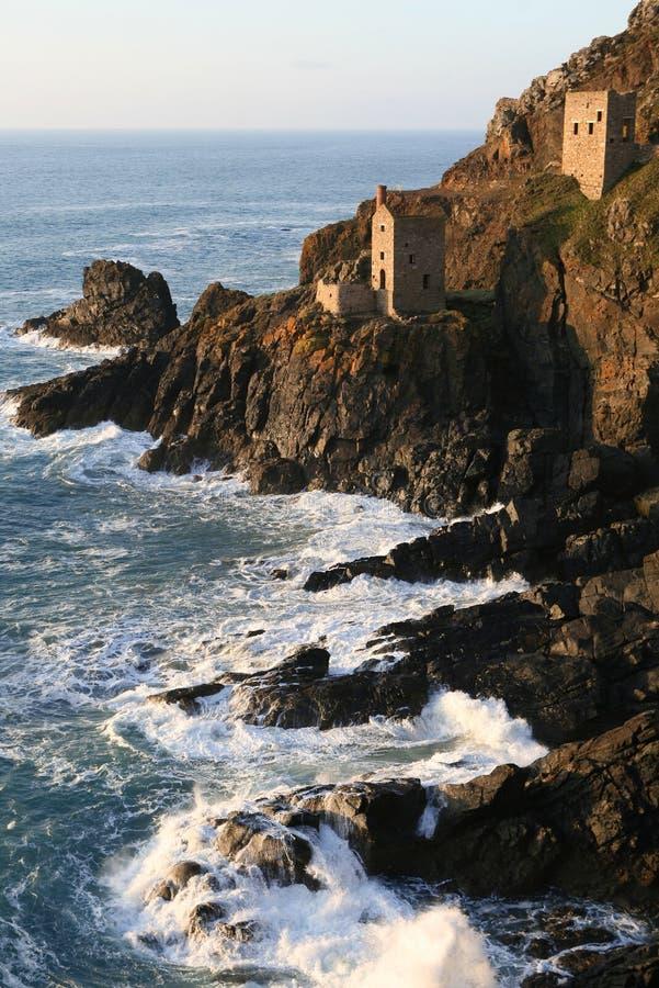 Minas de estanho Cornish fotos de stock royalty free