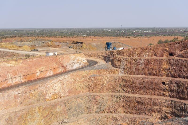 Minas de ouro em Cobar, Nova Gales do Sul, Austrália foto de stock royalty free