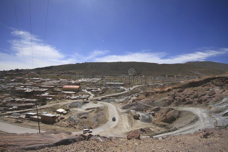 Minas de prata de Potosi Bolívia fotografia de stock