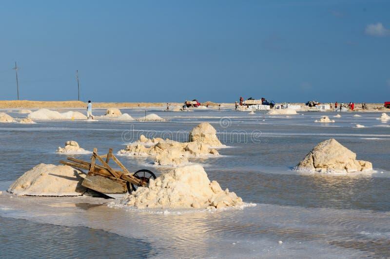 Minas de sal em Colômbia fotos de stock royalty free