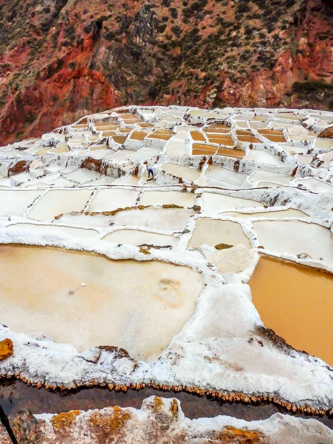 Minas de sal de Maras imagem de stock royalty free