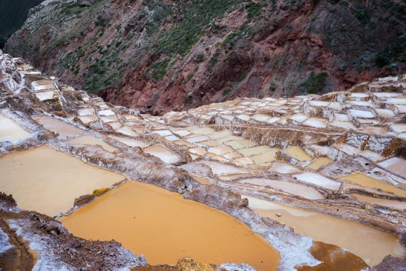 Minas de sal, Peru imagens de stock