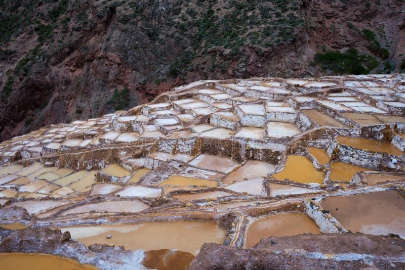 Minas de sal, Peru imagem de stock royalty free