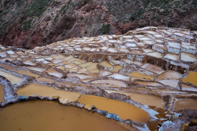 Minas de sal, Peru fotos de stock